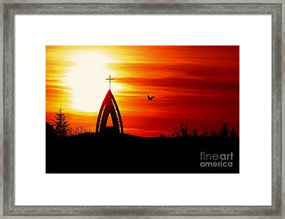 Sunset - Sky In The Fire Framed Print by Martin Dzurjanik
