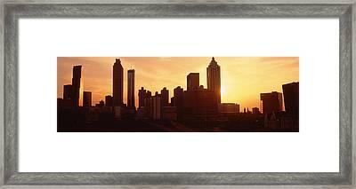 Sunset Skyline, Atlanta, Georgia, Usa Framed Print by Panoramic Images