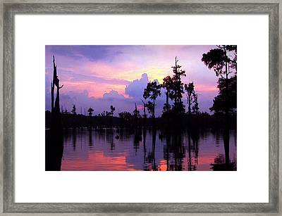 Sunset Skyview Reflections Clouds Landscape Unique Framed Print by Navin Joshi