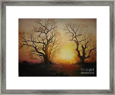 Sunset Framed Print by Sorin Apostolescu