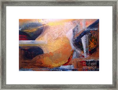 Sunset Thru Buildings Framed Print by Walter Fahmy