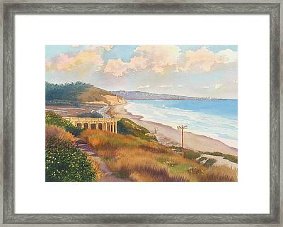 Sunset View Of Torrey Pines Framed Print by Mary Helmreich