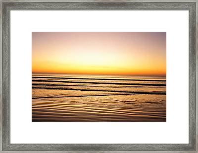 Sunset View Over Sea Framed Print by Panoramic Images