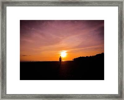 Sunset Walk Framed Print by Nicklas Gustafsson