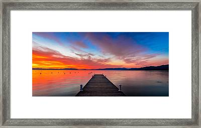 Sunset Walkway Framed Print by Edgars Erglis