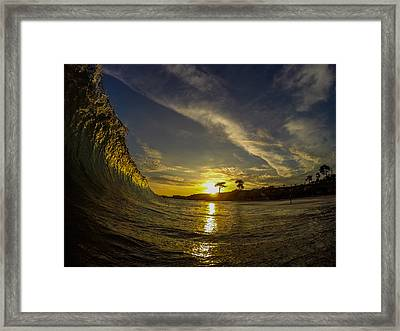 Sunset Wall Framed Print by David Alexander