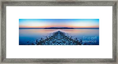 Sunset Way Framed Print by Adrian Evans
