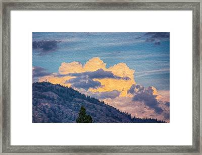 Sunset With A Smile Framed Print by Omaste Witkowski
