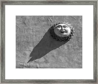 Sunshadow Bw Framed Print by Elizabeth Sullivan