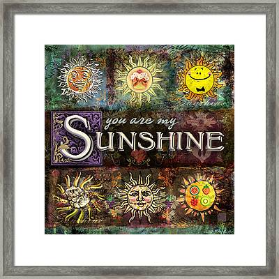 Sunshine Framed Print by Evie Cook