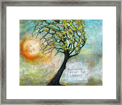 Sunshine Keeps Me Happy Framed Print by Blenda Studio