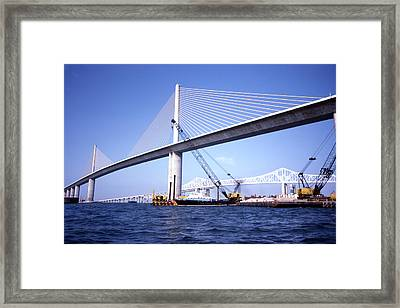 Sunshine Skyway Bridge Framed Print by Richard Rizzo