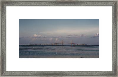 Sunshine Skyway Bridge Framed Print by Steven Sparks