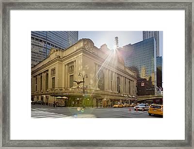 Sunrise Over Grand Central Terminal Framed Print by Susan Candelario