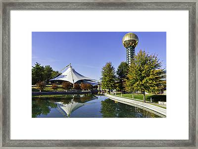 Sunsphere In The Fall Framed Print by Sharon Popek
