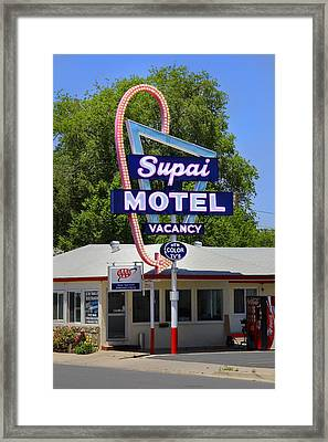 Supai Motel - Seligman Framed Print by Mike McGlothlen