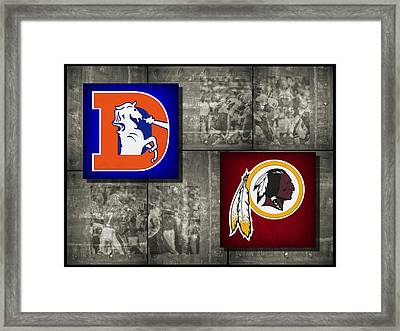 Super Bowl 22 Framed Print by Joe Hamilton