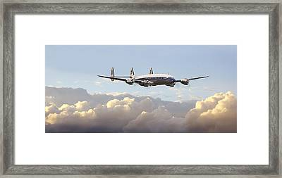 Super Constellation - End Of An Era Framed Print by Pat Speirs
