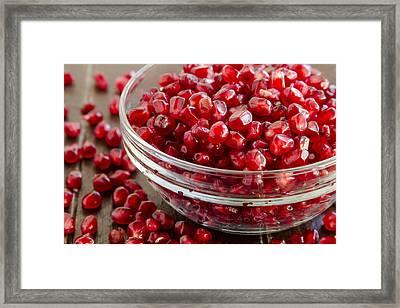 Super Food Pomegranate Seeds Framed Print by Teri Virbickis