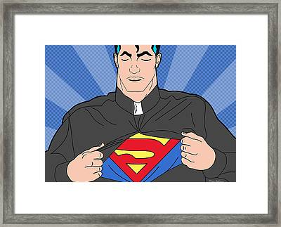 Super Man 8 Framed Print by Mark Ashkenazi
