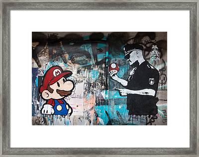 Super Mario Framed Print by Pedro Nunez