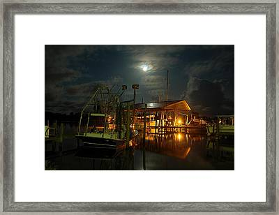 Super Moon At Nelsons Framed Print by Michael Thomas