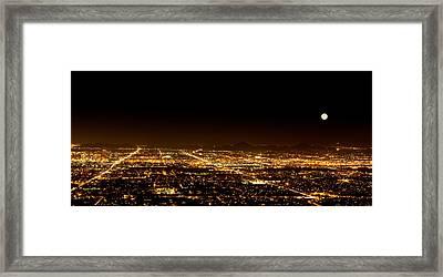 Super Moon Over Phoenix Arizona  Framed Print by Susan Schmitz