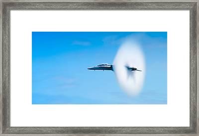 Super Sonic Framed Print by Sebastian Musial
