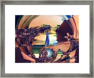 Super Woman Framed Print by Ursula Freer