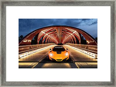 Supercar Sentinel Framed Print by Peter Chilelli