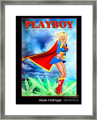 Supergirl 2085 Framed Print by Alicia Hollinger