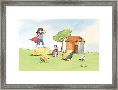 Supergirl Framed Print by Amanda Francey