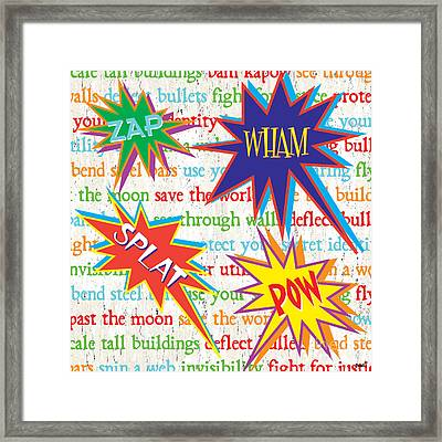 Superhero 1 Framed Print by Debbie DeWitt