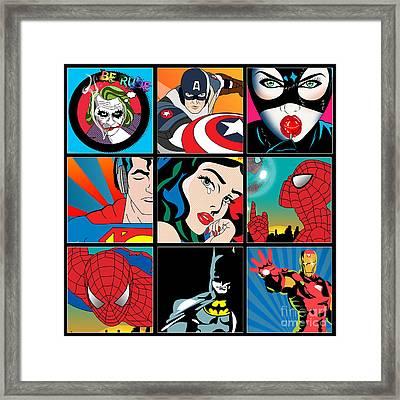 Superheroes Framed Print by Mark Ashkenazi