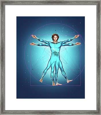 Superhumans Framed Print by Smetek