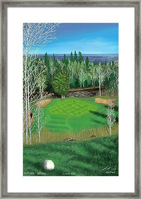 Superior National Golf Canyon 8 Framed Print by Troy Stapek