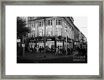 Supermacs Fast Food Restaurant Oconnell Street Dublin Republic Of Ireland Framed Print by Joe Fox