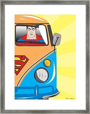 Superman 4 Framed Print by Mark Ashkenazi
