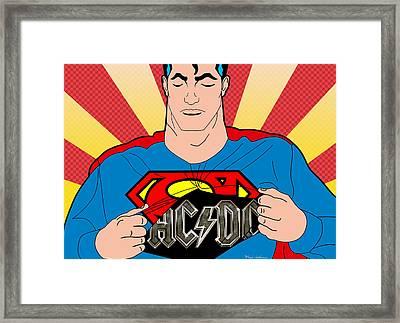 Superman 9 Framed Print by Mark Ashkenazi