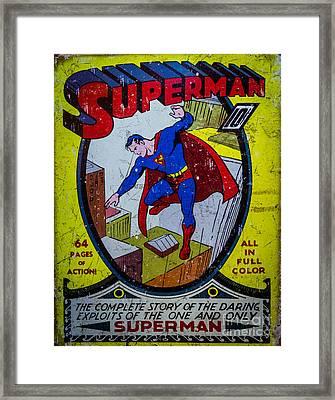 Superman Framed Print by Mitch Shindelbower