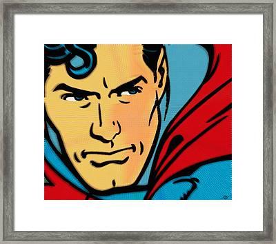 Superman Pop Framed Print by Tony Rubino