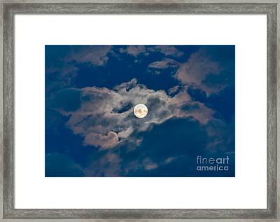 Man In The Moon Framed Print featuring the photograph Supermoon by Robert Bales
