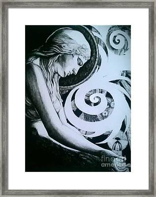 Supernatural Framed Print by Ottilia Zakany