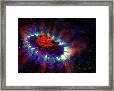 Supernova 1987a Remnant Framed Print by Alma (eso/naoj/nrao)/alexandra Angelich (nrao/aui/nsf)