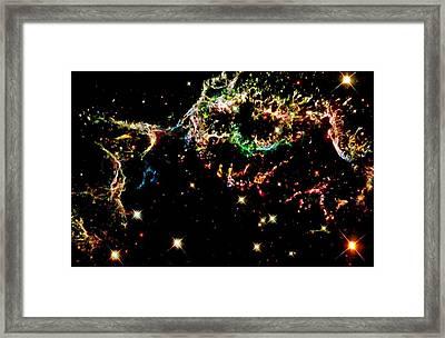 Supernova Remnant Cassiopeia A Framed Print by Amanda Struz