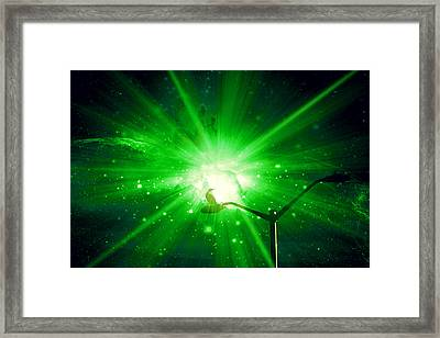 Supernova V Framed Print by Aurelio Zucco