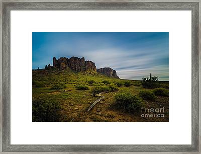Superstition In Motion Framed Print by Bill Cantey