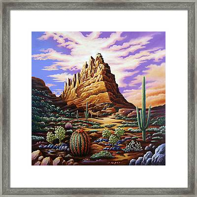 Superstition Mountains Framed Print by Andy Russell