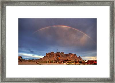 Superstition Rainbow  Framed Print by Saija  Lehtonen