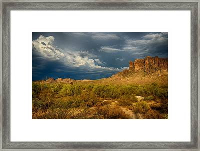 Superstition Wave Framed Print by Saija  Lehtonen